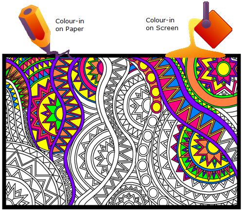click n colour colour in on paper colour in on