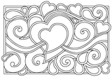 Download, print, color-in, colour-in Page 10 - Hearts and swirls