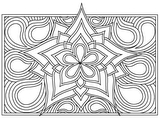 Download, print, color-in, colour-in Page 17 - middle daisy