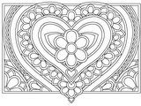 Download, print, color-in, colour-in Page 24 - large heart