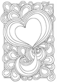 Download, print, color-in, colour-in Page 3 - Big Heart and Tears