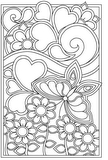 Download, print, color-in, colour-in Page 30 - flowers flys