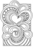 Download, print, color-in, colour-in Page 34 - Large heart Stripes