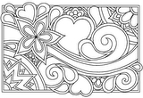 Download, print, color-in, colour-in Page 36 - Daisy, Heart, Swirl
