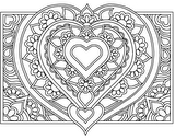 Download, print, color-in, colour-in Page 37 - Large Centre Heart, Flowers