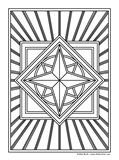 Download, print, color-in, colour-in Page 45 Centre Diamond