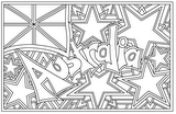 Download, print, color-in, colour-in Page 6 - Australian flag