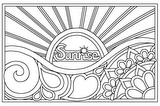 Download, print, color-in, colour-in Page 8 - Sunrise
