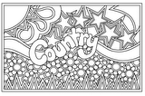 Download, print, color-in, colour-in Page 9 - Country