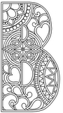 Download, print, color-in, colour-in Uppercase B