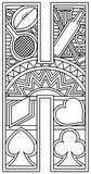 Download, print, color-in, colour-in Uppercase H
