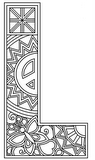 Download, print, color-in, colour-in Uppercase L