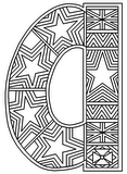 Download, print, color-in, colour-in lowercase a 2