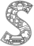 Download, print, color-in, colour-in lowercase s