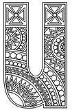 Download, print, color-in, colour-in lowercase u