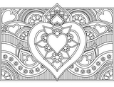 Download, print, color-in, colour-in Page 28 - middle heart and strip